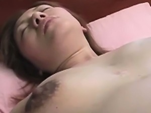 Pregnant asian milf toy stimulated