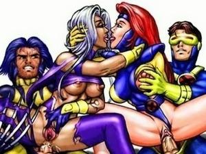 Famous cartoon superheroes porn parody