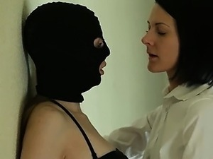 Secret babes gag strap on dildo