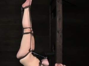 Ballgagged lezdom submissive flogged