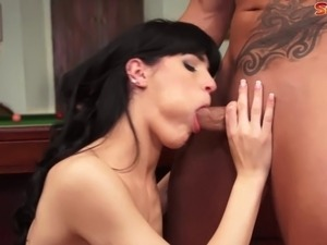 Carol Vega is the Spanish pornstar of the year. Here, she gets reamed on the...