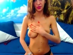 Watch this gorgeous shemale babe named Jenny play and