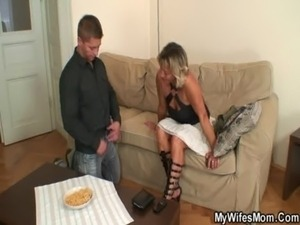 Wife finds him fucking mother-in-law free