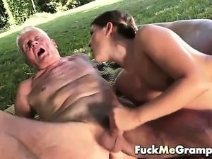 Teen blows teacher cock