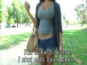 Extremely sexy and busty shemale Jane Marie gets her butt fucked free