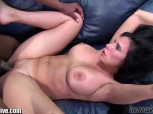 AMATEUR! Latina Mature MILF with gigantic boobs and huge booty gets fucked by...
