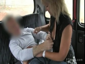 Blonde mature fucked and creampied in taxi free