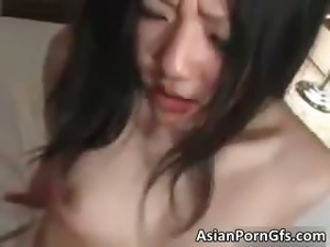 Nasty asian bitch gets hairy cunt part3