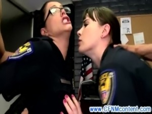 CFNM police women demand pussy pounding in high def free