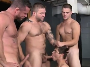 Prisoners tight ass banged by guards
