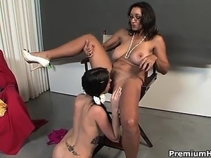 Young Bonnie Skye having her first lesbian sex experince