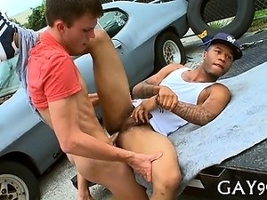 Hawt interracial homosexual sex