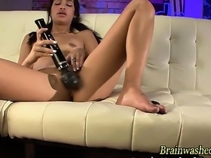 Brainwashed hypno teen toying