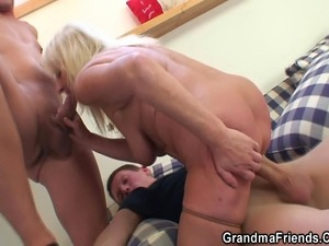 Two dudes fuck drunk oldie