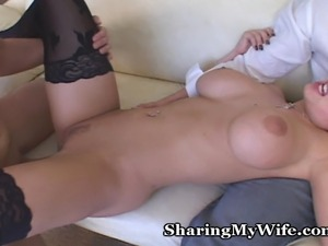 Big titty wife in glasses wants to have a threesome.
