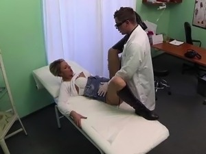 Sexy patient gets banged by her doctor