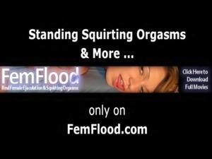 Masturbating to Pulsing Squirting Orgasms Standing Up free