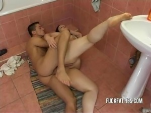 Hot Fat Girl Fucks In Toilet her long time bf