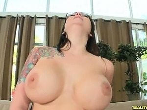 Ashton rides that cock as her huge beautiful tits bounce.