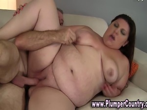 Huge BBW hottie loves cock
