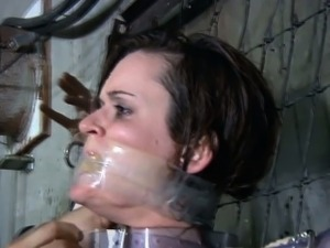 Mummified and sensory deprived submissive learns discipline