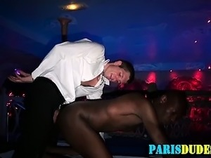 Euro black fucked and cummed on