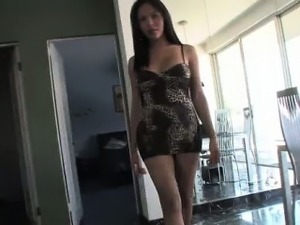 Asian ladyboy looking hot in solo scene