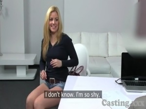 Casting Super hot blonde loves big cock free