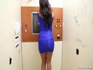 Busty Latina Gloryhole Handjob free