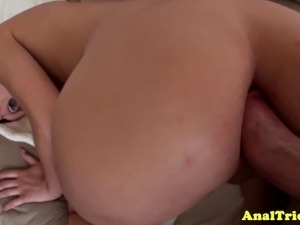 Buttfucking amateur exgirlfriend drilled deep