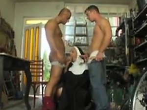 Mature Nun Double Penetrated By Two Men