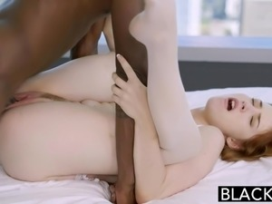 BLACKED Redhead Gwen Stark enjoys her first Black Cock