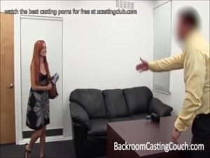xcastingclub.com Stunning Redhead Camgirl at Casting Couch free
