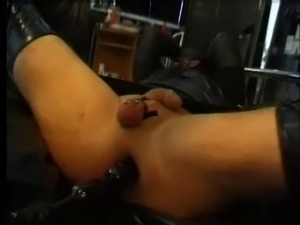 MN - Mistress with CD slave in latex. Anal fun Part 2