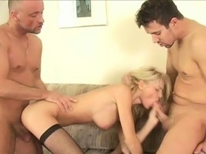 Hot Blonde Jasmine Rouge Gets Double Penetrated