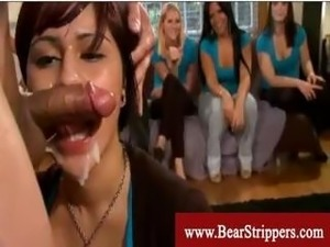 Bachelorettes get seduced by a dancing bear