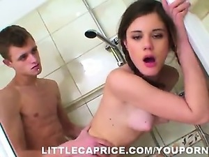 18yo Caprice hardcore action in the toilet room