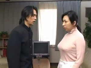 japanese mother get d by son and cums inside her