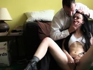 Sexy girlfriend extreme gang bang