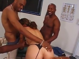 Cherie A Cute Doctor has Gangbanged By chocolate men