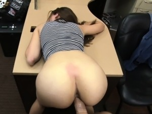 Sexy babe desperately fucks for money