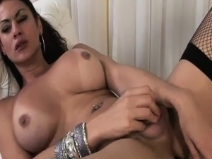 Rabeche Rayala - Big Ass Shemale Tugging Her Cock