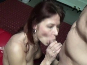 Real Gangbang in German Swinger Club Part 2
