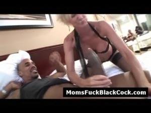 Horny blonde cougar sucks black dick when husband is not around free