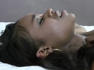 Cute black girlfriend moans as she gets it