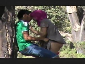 Hidden cam Arabian outdoor sex