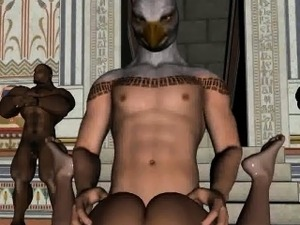 3D babe getting fucked by a stud in an eagle mask