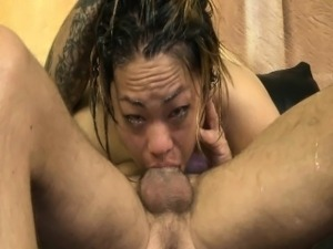 Laci Hurst extreme mouth fuck by convict