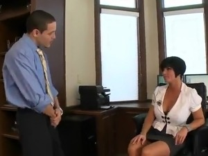 Great titted dark haired gal Shay Fox Has fucking At Work