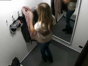 Awesome Teen Girl Tries Out Underwear in Lingerie Store